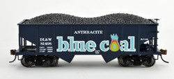Bowser HO GLa Hpr Gla Blue Coal (Fantasy) DL&W 3 Pack of Rolling Stock