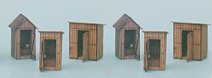 Banta Modelworks O Scale 6 in 1 Outhouse Collection, O scale, #6021
