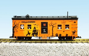 USA Trains G Scale R18300 Halloween Bunk Car – Orange