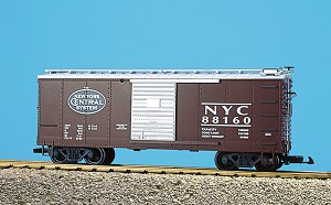 USA TRAINS G SCALE R19054A        NEW YORK CENTRAL #88166/67 SBC BROWN/SILV