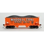 Bowser HO GLa Hpr Gla Waddell Coal (Fantasy)  3 pack of rolling stock