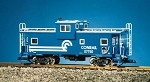 USA Trains 12109 G Scale Conrail Extended Vision Caboose blue