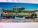 USA Trains 12111 G Scale Extended Vision Caboose B N S F green/orange