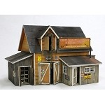 Banta Modelworks O Scale Crick Hollow Hardware & Miners Supply Building Kit