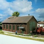Piko HO Scale 61823 Hobby Line Burgstein Loco Shed, Building Kit (HO-Scale)