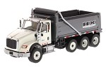 Die Cast Masters 71013  International HX620 Dump Truck in White with Gun Metal Grey Bed 1:50 SCALE