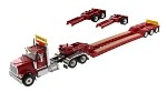Die Cast Masters 71016 International HX520 Tandem Day Cab Tractor with XL 120 Lowboy Trailer in Red 1:50 SCALE