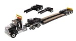 Die Cast Masters 71017 International HX520 Tandem Day Cab Tractor with XL 120 Lowboy Trailer in Black 1:50 SCALE