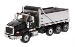 Die Cast Masters 71020 1/50th Scale International HX620 Dump Truck in Black with Silver Grey Bed