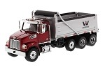 Die Cast Masters 71032 Western Star 4700 SF Dump Truck in Red with Silver Dump Body 1:50 SCALE