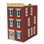 MTH Trains 30-90600 O Scale City Brick Red 3-Story Town House #2