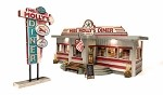 Woodland Scenics NEW Miss Molly's Diner Built-&-Ready® O SCALE