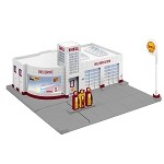 Lionel O Scale Plug and Play 84496 - SHELL GAS STATION PP (17RTR)
