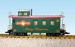 USA TRAINS G SCALE R12025 Christmas WOODSIDE CABOOSE