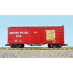 USA Trains G Scale Wood Box Car R19027 Unitah Map - Red