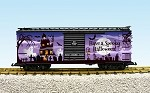 USA Trains G Scale R19120 Spooky Halloween Box Car - Two Tone Purple/Black