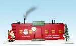 USA Trains G SCALE R1940C Christmas Workshop  with Smoking Stack and Lights